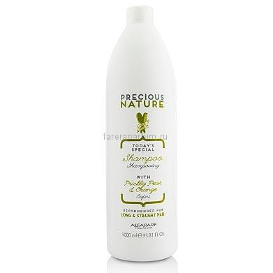 Alfaparf Precious Nature Long and Straight Hair Oil Shampoo Шампунь для прямых и длинных волос 1000 мл.