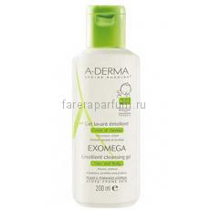 А-дерма Exomega Control Смягчающий очищающий гель 2 в 1 для сухой кожи 200 мл.
