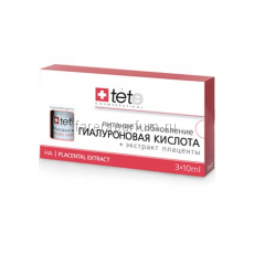 TETe Cosmeceutical Hyaluronic acid + placental extract Гиалуроновая кислота + экстракт плаценты 3 флакона по 10 мл.