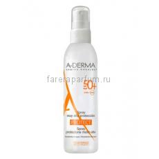 А-дерма Протект Спрей солнцезащитный SPF50+ 200 мл.