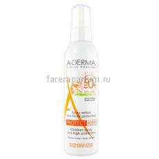 А-дерма Протект Спрей детский солнцезащитный SPF50+ 200 мл.
