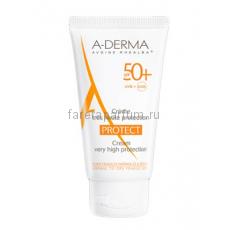 А-дерма Протект Крем солнцезащитный SPF 50+ 40 мл.