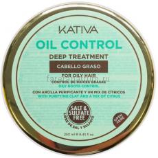 """Kativa Oil Control Маска """"Контроль"""" интенсивный уход для жирных волос 250 мл."""