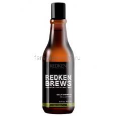 Redken Brews Daily Shampoo Шампунь для ежедневного ухода за волосами и кожей головы 300 мл.
