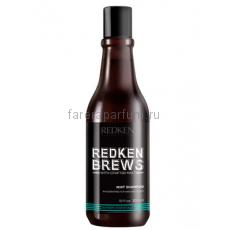Redken Brews Mint shampoo Тонизирующий шампунь 300 мл.