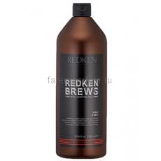 Redken Brews 3-in-1 Шампунь, кондиционер и гель для душа 3 в 1 1000 мл.