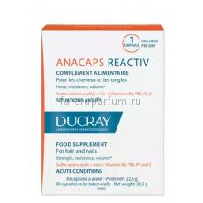 Ducray Анакапс Реактив БАД к пище для волос и кожи головы 30 капсул.