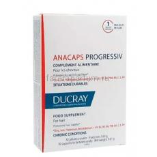 Ducray Анакапс Прогрессив БАД к пище для волос и кожи головы 30 капсул.