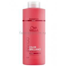 Wella Invigo Color Brilliance Шампунь для защиты цвета окрашенных жестких волос 1000 мл.