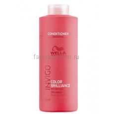 Wella Invigo Color Brilliance Бальзам-уход для защиты цвета окрашенных жестких волос 1000 мл.