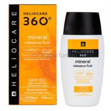 Heliocare 360º Mineral Tolerance Fluid Sunscreen SPF 50 Солнцезащитный минеральный флюид с SPF50 для чувствительной кожи 50 мл.