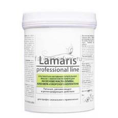 Lamaris Альгинатная активная питательная маска с эффектом регенерации на основе масла оливы, алоэ вера и морского коллагена 180 гр.