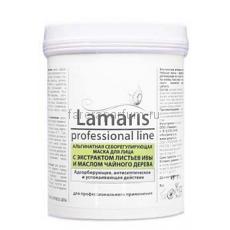 Lamaris Альгинатная себорегулирующая маска для лица с экстрактом листьев ивы и маслом чайного дерева 180 гр.