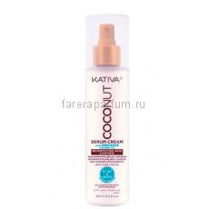 Kativa Coconut Восстанавливающая крем-сыворотка с органическим кокосовым маслом для поврежденных волос 200 мл.