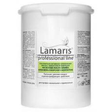Lamaris Альгинатная активная питательная маска с эффектом регенерации на основе масла оливы, алоэ вера и морского коллагена 400 гр.