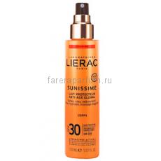 Lierac Саниссим Солнцезащитное тонизирующее молочко для тела SPF30 150 мл.