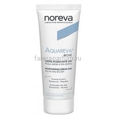 Noreva Акварева Увлажняющий крем 24 ч для сухой и очень сухой кожи 40 мл.