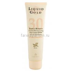 Anna Lotan Liquid Gold Тройной эффект дневной крем SPF30+ 100 мл.