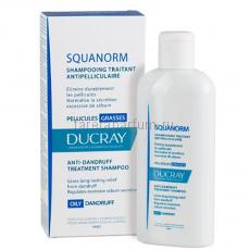 Ducray Скванорм Шампунь для волос от жирной перхоти 200 мл.