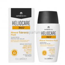 Heliocare 360º Mineral Tolerance Fluid Sunscreen SPF 50 Солнцезащитный минеральный флюид с SPF 50 для чувствительной кожи 50 мл.