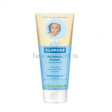 Klorane Бебе Гель пенящийся мягкий для волос и тела 200 мл.