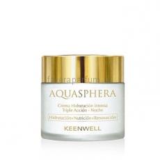 Keenwell Aquasphera Ночной интенсивно увлажняющий крем тройного действия 80 мл.