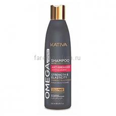 Kativa Omega Complex Антистрессовый шампунь для поврежденных волос 250 мл.
