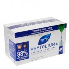 Phyto Фитолиум 4 Сыворотка против выпадения волос 12 ампул по 3,5 мл.