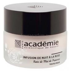 """Academie Aromatherapie Ночной восстанавливающий крем с экстрактом розы """"Розовая инфузия"""" 30 мл."""