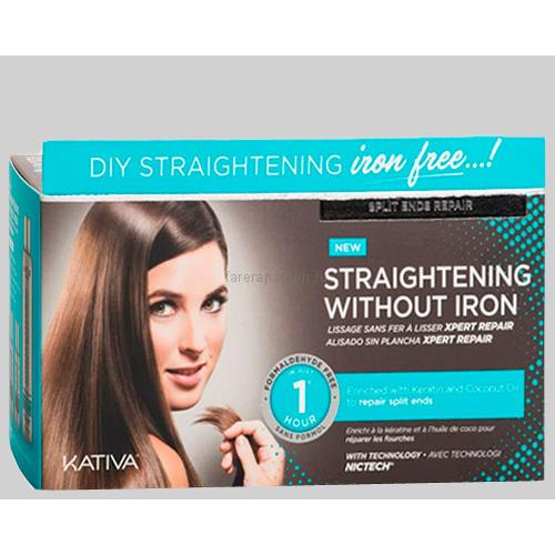 """Kativa Iron Free Набор для выпрямления волос """"Восстановление"""" для волос с секущимися кончиками"""
