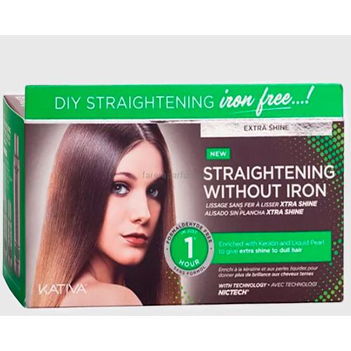 """Kativa Iron Free Набор для выпрямления волос """"Экстра-блеск"""" для тусклых волос с жемчугом и кератином"""