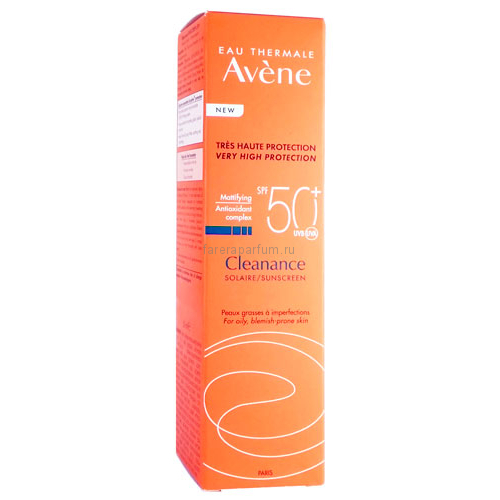 Avene Клинанс Солнцезащитный флюид для жирной кожи SPF50+ 50 мл.