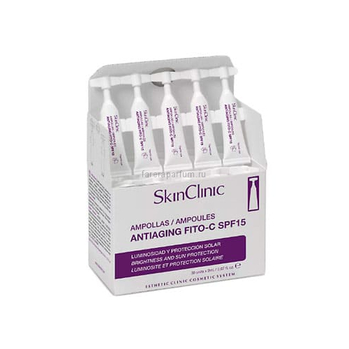 SkinClinic AntiagingFito-C SPF15Анти-возрaстной фито коктейль с витамином С SPF15 10 шт.*2 мл.