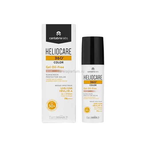 Heliocare 360º Color gel oil-free beige sunscreen SPF 50+ Тональный солнцезащитный гель с SPF 50+ (бежевый) 50 мл.