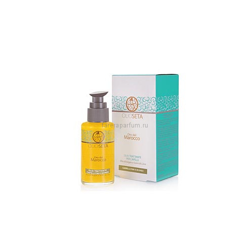 Barex Olioseta Oro del Marocco Масло блонд-уход с маслом арганы и маслом семян льна 100 мл.